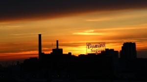 Domino sign sunset