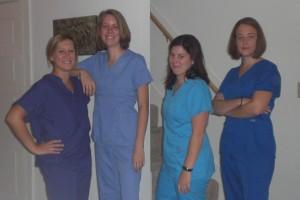 in scrubs Greys anatomy pose CIMG0495