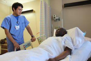 Gerard with patient