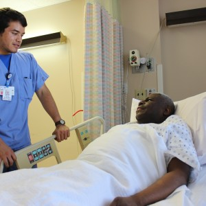 Gerard with patient